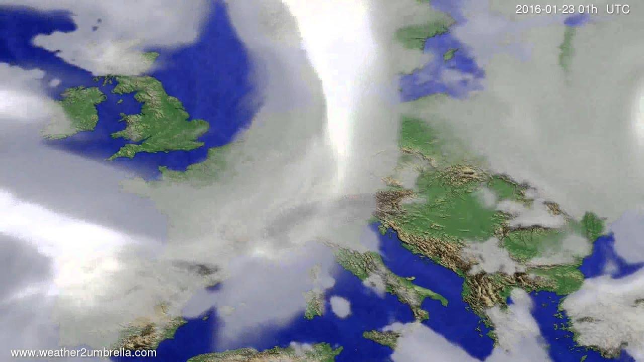Cloud forecast Europe 2016-01-20