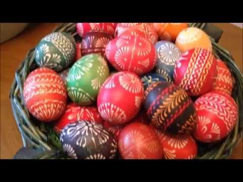 Ostereier gestalten und färben - Sorbische Wachsmaltechnik