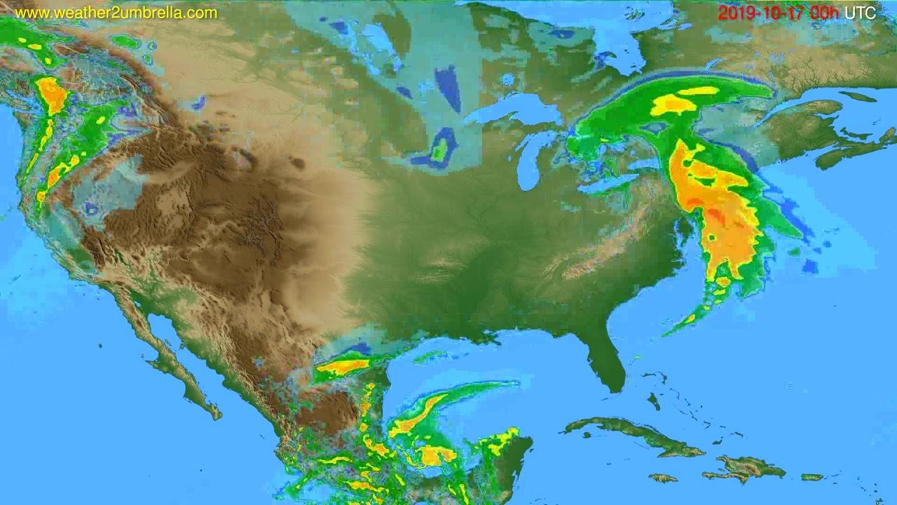 Radar forecast USA & Canada // modelrun: 12h UTC 2019-10-16