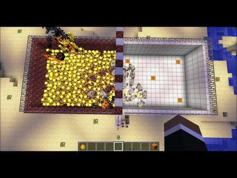 Minecraft -  Blazes VS  Iron Golems