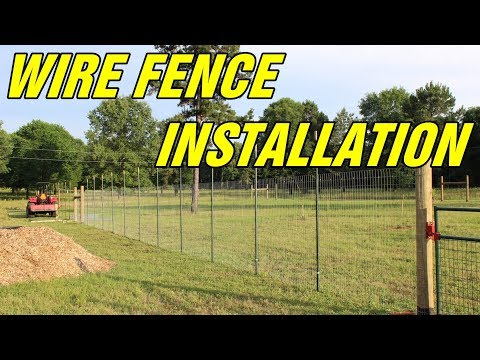 Wire fence instalation for your orchard or garden