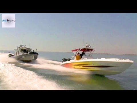 boat - Demonstration of CBP Air and Marine Open Ocean Chase of Suspect Vessel using 39' Midnight Express Boat and 38' Secure All-Around Flotation Equipped (SAFE) Bo...