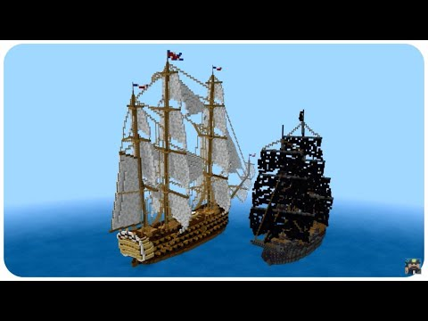 Minecraft: First Rate Ship of the Line Tutorial part 1 (HMS Freedom) 120 Gun Heavy Warship Tutorial