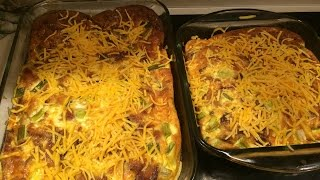 Here's my bacon, egg, and cheese over bake casserole recipe. If you have 48 eggs laying around you can make it just as I show. Or you can cut this recipe in 1/2 ...