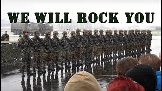 """Szwajcarska armia """"tańczy"""" We Will Rock You na ćwiczeniach :D"""