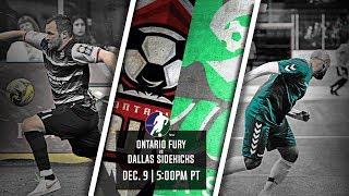 Ontario Fury vs Dallas Sidekicks