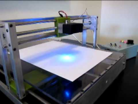 DIY Blu-ray Laser CNC Machine
