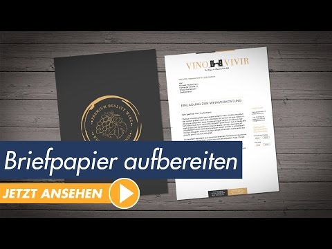InDesign Tutorial - Hochwertiges Briefpapier aufbereiten und drucken (DIN 5008)