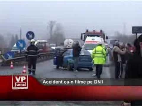 Accident ca-n filme pe DN1