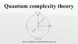 Quantum complexity theory