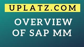Overview | SAP MM | SAP Materials Management Module Online Training Tutorial & Certification Course