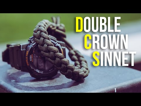 How To Make A Double Crown Sinnet Paracord Bracelet Tutorial | Vertical Crown Knot