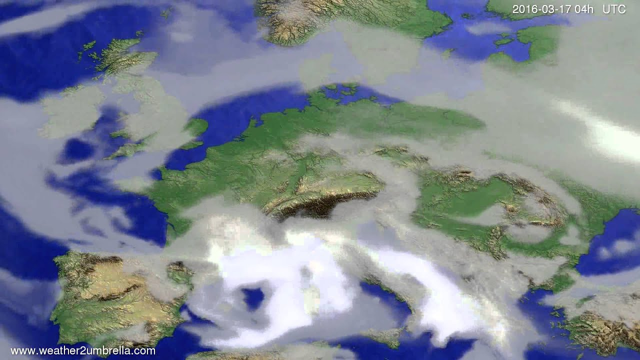 Cloud forecast Europe 2016-03-13