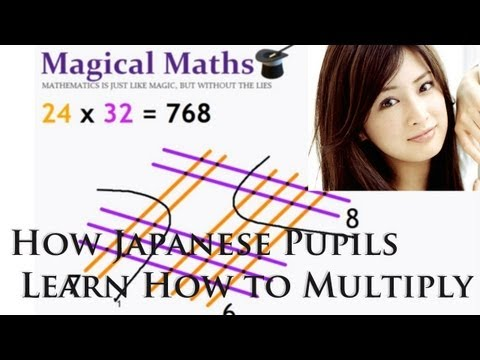 How Japanese Pupils Learn to Multiply. A must share!! (видео)