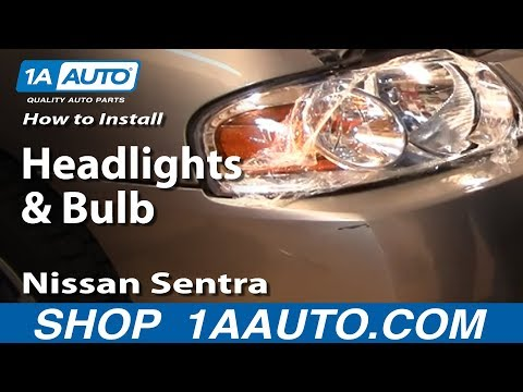 How To Install Replace Headlights and Bulbs Nissan Sentra 04-06 1AAuto.com