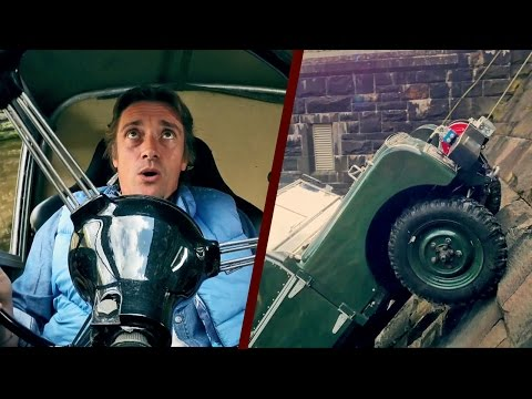 On TOP GEAR Episode 4- Richard drives himself up a wall (literally)
