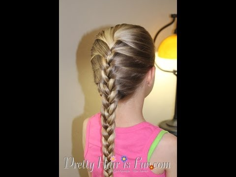 french braid - Learn how to do a basic French Braid--the first and most important braid! Master this french braid and you will be able to do just about anything with your h...