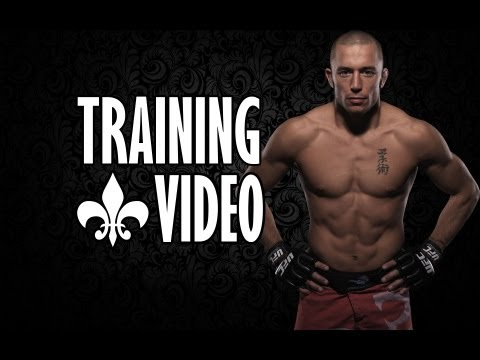 George st Pierre training