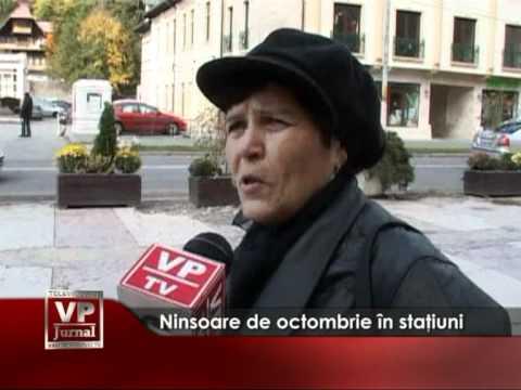 Ninsoare de octombrie în staţiuni