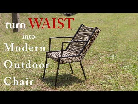 Woodworking ideas - Turn WASTE into Modern Outdoor Chair DIY ; Amorpha furniture