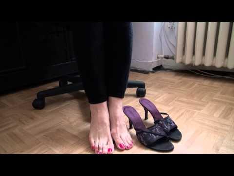 foot worship in high heels