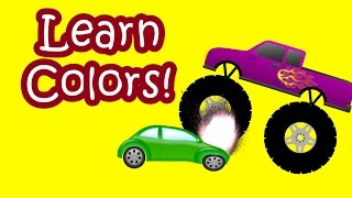 Download Video Monster Trucks Teaching Children Colors And Crushing Cars