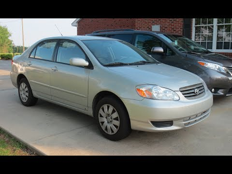 2003 Toyota Corolla LE Full Tour, Start-up & Review