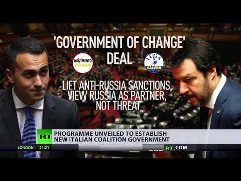 Proposed Italian coalition deal seeks to lift anti-Russia sanctions (видео)