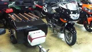 9. 2009 BMW K1200LT Motorcycle and Trailer