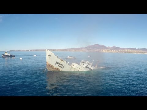 Watch Navy Battle Ship Sink With GoPros