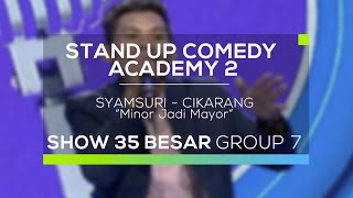 Video Syamsuri - Minor jadi Mayor (SUCA 2 - 35 Besar Group 7) MP3, 3GP, MP4, WEBM, AVI, FLV Desember 2017