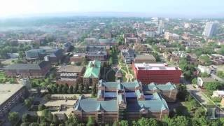 Thumbnail of Aerial Video of Beckman Institute, Engineering Quad, and North Campus Area video