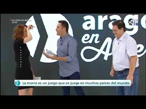 Tomás Marco da a conocer el juego de la morra en Aragón TV
