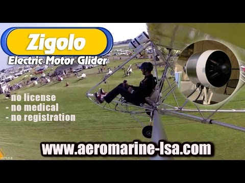 ultralight sailplane - http://www.sportaviationmagazine.com - Zigolo electric powered ultralight motor glider. I didn't see this one coming. Maybe you didn't either? In the new mil...