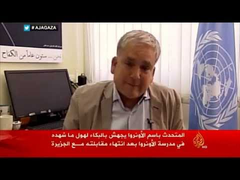 christopher - UNRWA spokesperson Christopher Gunness breaks down in tears on live TV after the 19 killed in attack on UN school in Gaza. All copyrights are for Aljazeera and aljazeera.net The original video:...