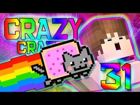 Minecraft: NYAN CAT LAUNCHER MOD! Crazy Craft 2.0 Modded Survival w/Mitch! Ep. 31 (Crazy Mods)