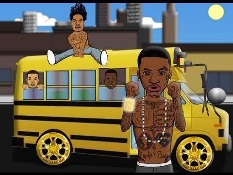 #ShawtBusShawty ( @BYOBent Gucci Mane Soulja Boy Waka Flocka Cartoon Short Bus Shorty)