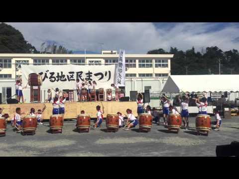 のびる地区民まつり 野蒜小学校復興太鼓