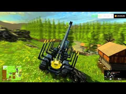 farming simulator 2015 The forestry map setup