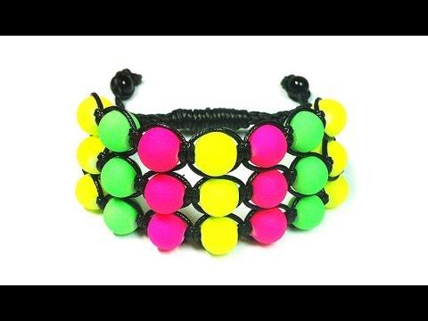 DIY: Triple shambala bracelet / Как плести тройной браслет Шамбала