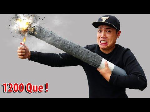 NTN - Thử Đốt Pháo Bông Khổng Lồ Nặng 2KG (Try to burn giant fireworks weight 2KG ) - Thời lượng: 11:39.