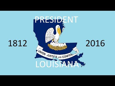 Louisiana Presidential Election Parishes (1812-2016)