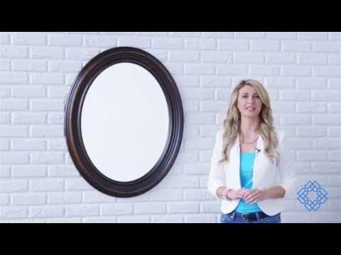 Video for Ovesca Dark Oil Rubbed Bronze Oval Mirror