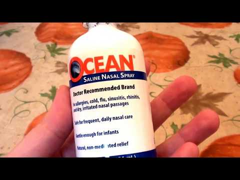 OCEAN SALINE NASAL SPRAY FOR SINUS RELIEF/MY FAVORITE BRAND!