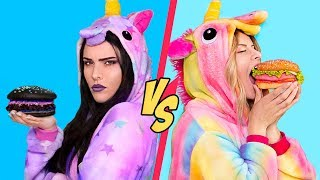 Video Good Unicorn Food vs Bad Unicorn Food Challenge! / 11 Rainbow Unicorn Recipes MP3, 3GP, MP4, WEBM, AVI, FLV Juli 2019