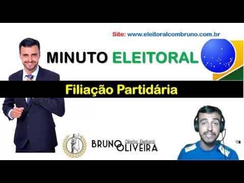MINUTO ELEITORAL - FILIAÇÃO PARTIDÁRIA - [Direito Eleitoral]