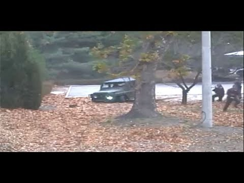 Just-released footage of North Korean soldier escaping to his freedom