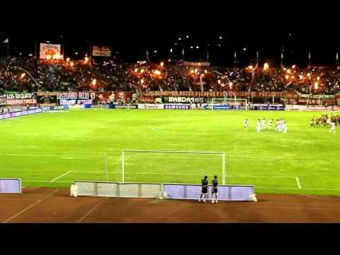 Tifo de la barra del Rojo 24 de agosto Caracas Fc Vs Yaracuyanos FC - Los Demonios Rojos - Caracas