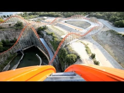 texas - Official POV and Rider cam from Six Flags Fiesta Texas' Iron Rattler! This Rocky Mountain Construction coaster is AWESOME!!! Airtime all over the place!
