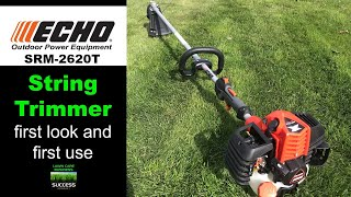8. ECHO SRM-2620T String Trimmer first look and first use